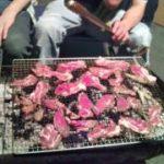 猪肉でBBQ