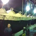 小川島の夜炊き船に乗ってきました(^^)/