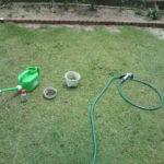芝生のミミズ退治はスミチオンの薬剤を撒いてみました。