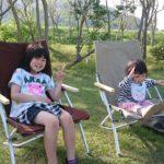 公園で使ったスノーピークの折りたたみ椅子
