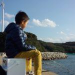 息子と鷹島へエギングに行ってきました。